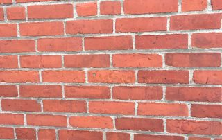 cleaned brick wall