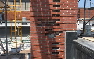 chimney missing bricks